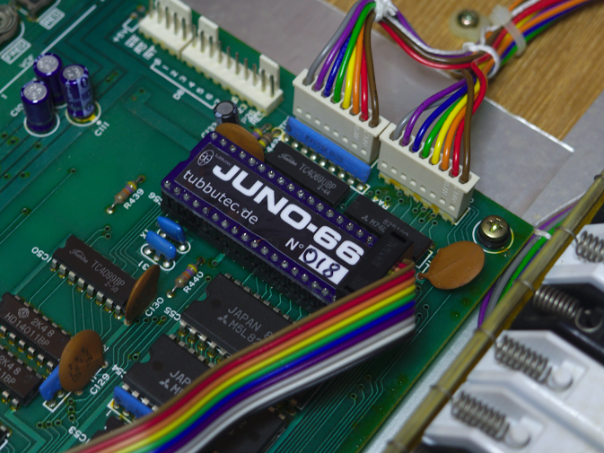 Juno-66 installed in the socket