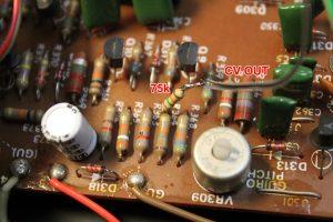 Maracas CV input (Resistor is 75K)