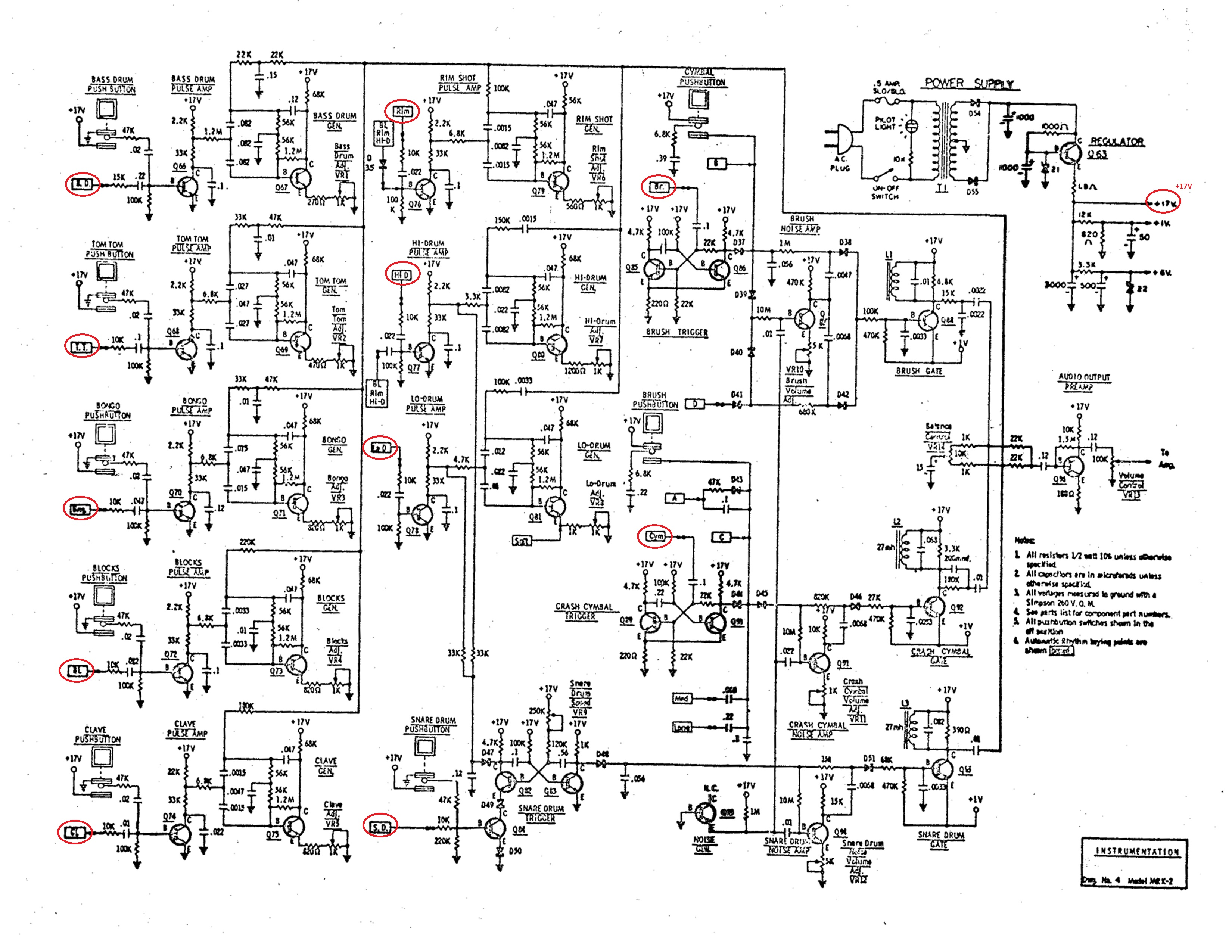 Tubbutec 0 12v Power Supply Circuit Diagram Here You Can See The Schematic And We Marked Unipulse Trigger Points Of All Voices In Upper Right Corner Also For